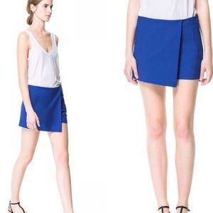 Zara blue skort shorts size XS